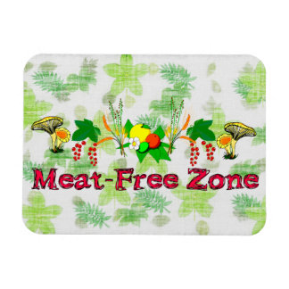 Meat-Free Zone Rectangle Magnet