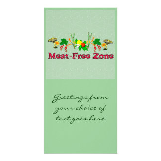 Meat-Free Zone Personalised Photo Card