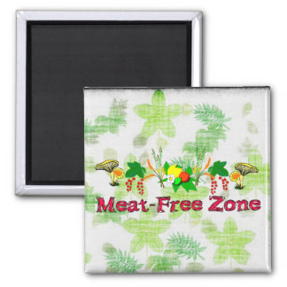 Meat-Free Zone Square Magnet
