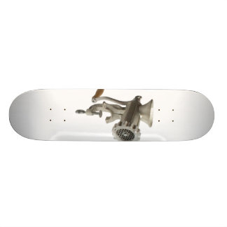 meat grinder custom skateboard