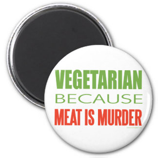 Meat Is Murder - Anti-Meat Refrigerator Magnets