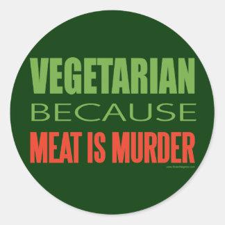 Meat Is Murder - Anti-Meat Round Sticker
