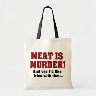 Meat Is Murder Canvas Bag