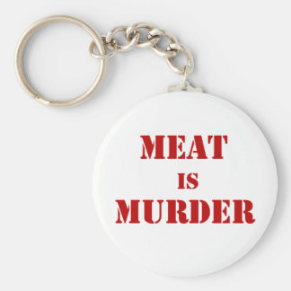Meat is Murder Basic Round Button Key Ring
