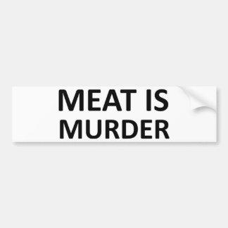 Meat is Murder Bumper Stickers