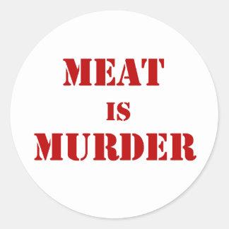 Meat is Murder Round Sticker