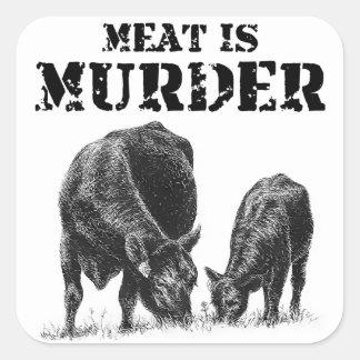 Meat Is Murder Square Sticker