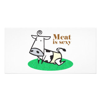 Meat Is Sexy Personalized Photo Card
