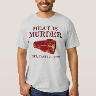 Meat is Tasty Murder T Shirt