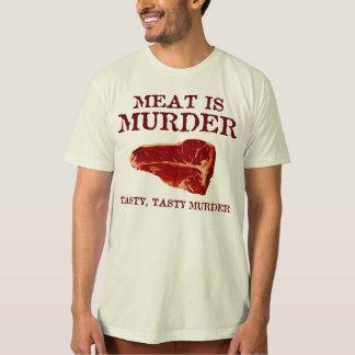 Meat is Tasty Murder T Shirts
