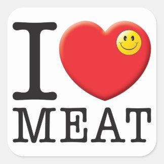 Meat Love Square Sticker