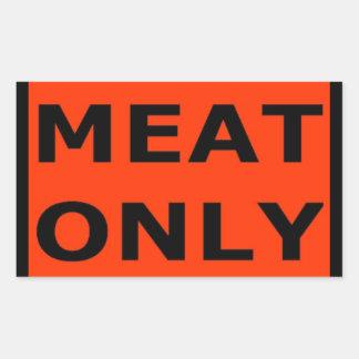 Meat Only Rectangular Sticker