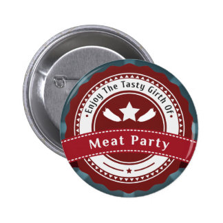 Meat Party Logo Badge Pins