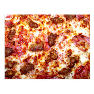 Meat Pizza Postcard