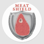 Meat Shield Round Stickers