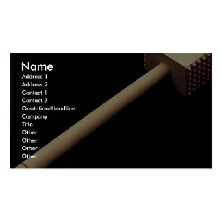 Meat tenderizing mallet in wood pack of standard business cards