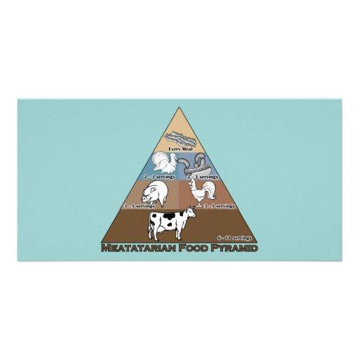 Meatatarian Food Pyramid Photo Cards
