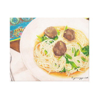 Meatball soup kitchen canvas gallery wrap canvas