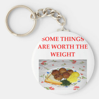 MEATBALLS BASIC ROUND BUTTON KEY RING