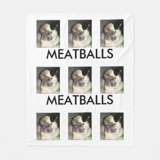 MEATBALLS Custom Fleece Blanket, Medium