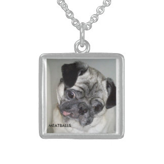 MEATBALLS STERLING SILVER NECKLACE