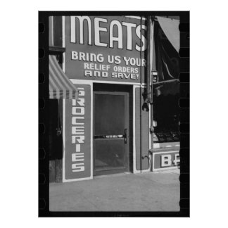 Meats & Groceries Poster