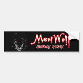 MeatWolf Energy Drink Bumper Sticker