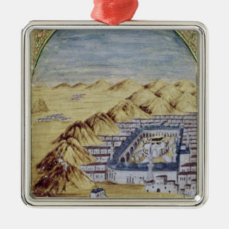 Mecca surrounded by the Mountains of Arafa Christmas Ornament