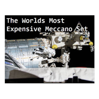 Meccano Postcard - Flat Earth Meme