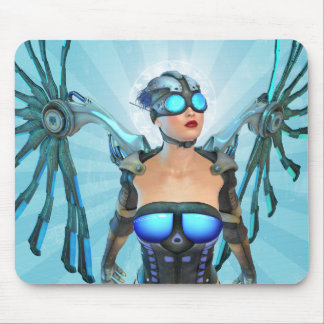 Mech Angel Surreal Art Mousepad