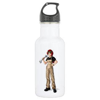 Mechanic Anime Girl 532 Ml Water Bottle