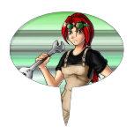 Mechanic Anime Girl Cake Picks