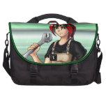 Mechanic Anime Girl Laptop Bags
