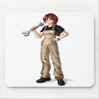 Mechanic Anime Girl Mousepad