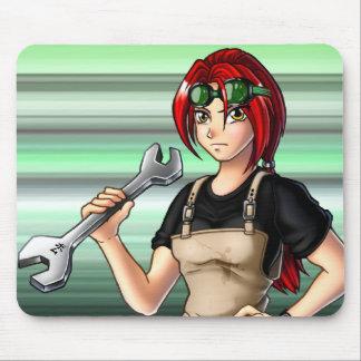Mechanic Anime Girl Mouse Pad