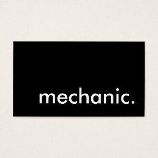 mechanic. business card