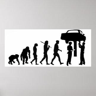 Mechanic Car Repair Workshop Staff Mens Work Posters