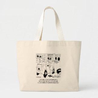 Mechanic Cartoon 9355 Jumbo Tote Bag
