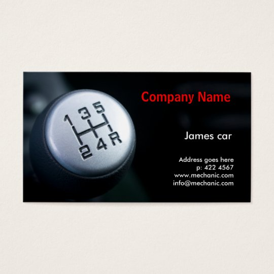 Mechanic Company Business Card Template