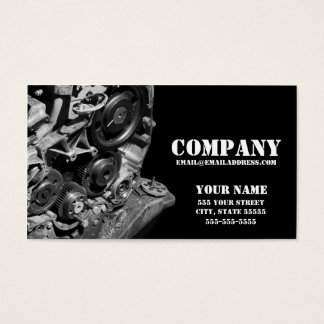 "Mechanic Gears Business Card 3.5"" x 2.0"""