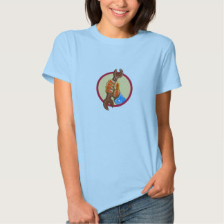 Mechanic Hand Holding Spanner Circle Watercolor Shirts