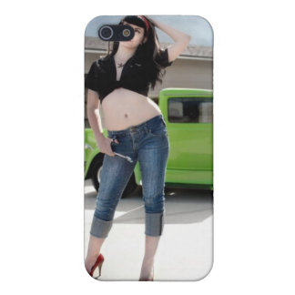 Mechanic Hot Rod Pin Up Girl Betty iPhone 4 Case
