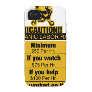 Mechanic labor rates - Caution iPhone 4 Cover
