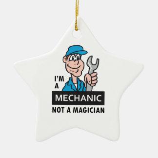 MECHANIC NOT A MAGICIAN CHRISTMAS ORNAMENT