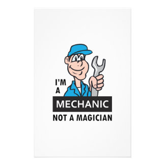MECHANIC NOT A MAGICIAN CUSTOM STATIONERY