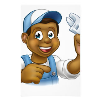 Mechanic or Plumber Handyman Custom Stationery