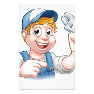 Mechanic or Plumber Handyman Personalized Stationery
