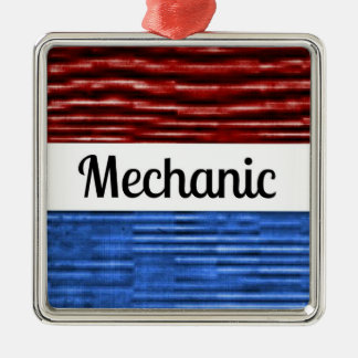 Mechanic Patriotic Christmas Ornament