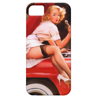 Mechanic Pin Up iPhone 5 Covers