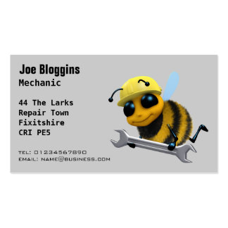 Mechanic, repair and servicing business cards